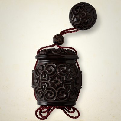Tobacco box and Netsuke